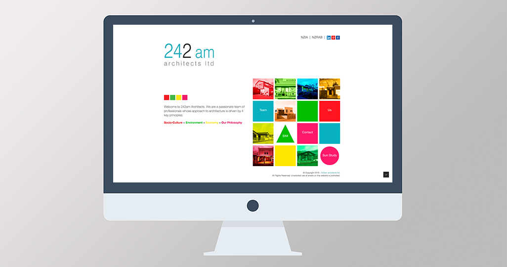 242am Architects website design