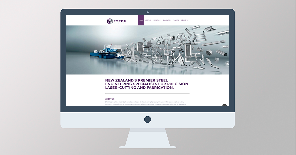 Etech NZ Ltd Website Design